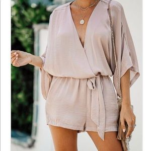 Satin romper- brand new with tags